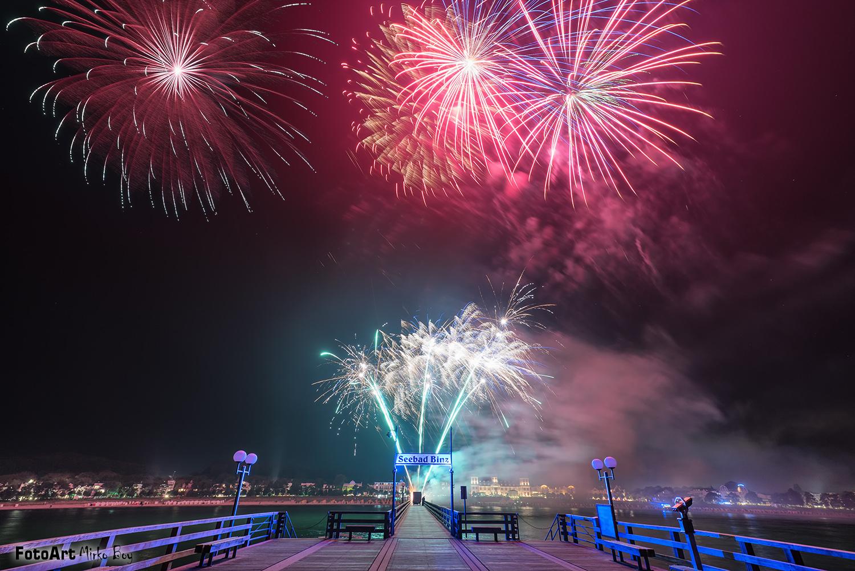 Feuerwerk Seebrücke Binz - Fototouren
