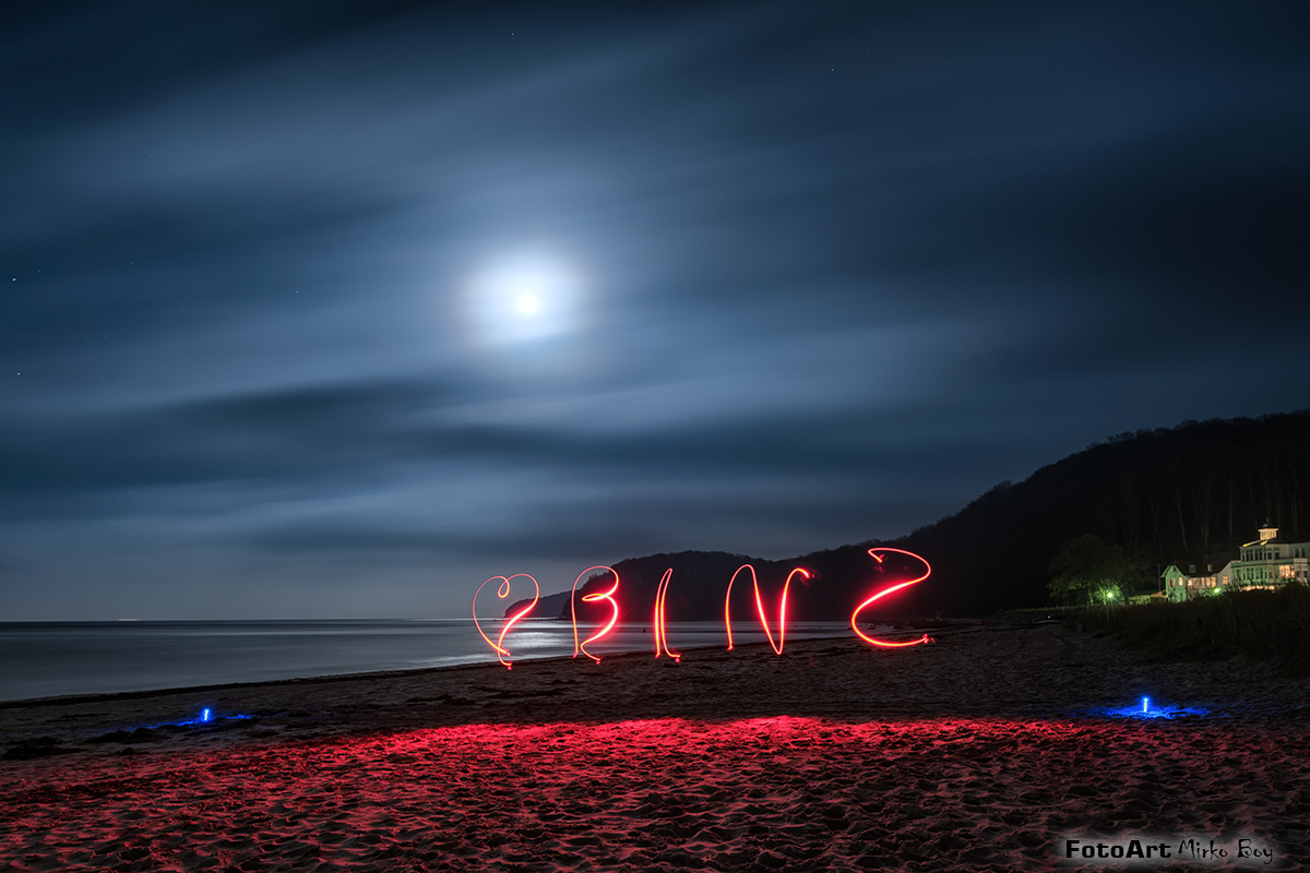 Lightpainting Binz am Strand - Fototouren