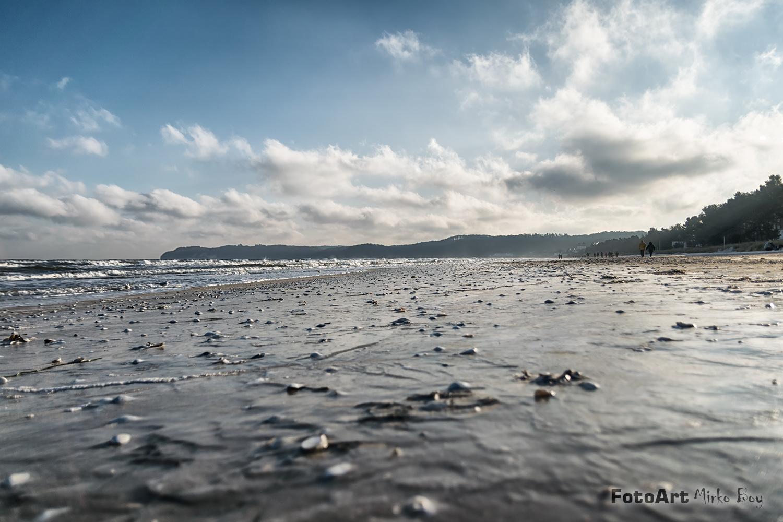 Binz Strand im Winter  - Fototouren