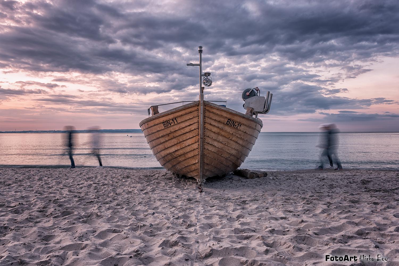 Binz Strand Fischerboot - Fototouren