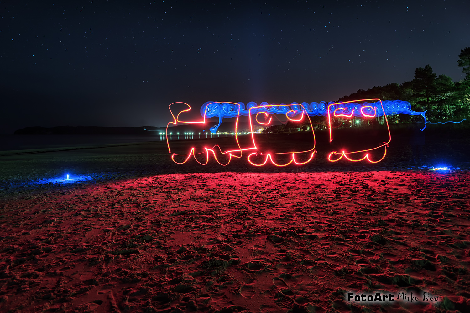 Lightpainting am Binzer Strand - Fototouren