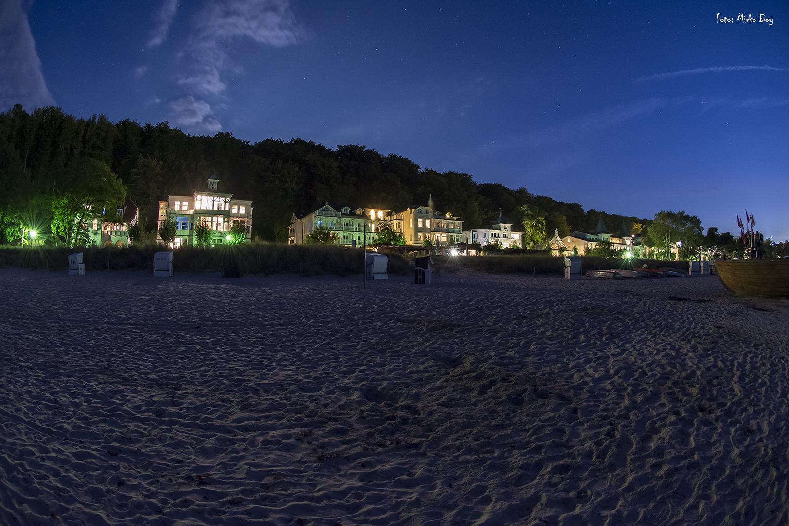Strandpromenade Binz bei Nacht - Fototouren