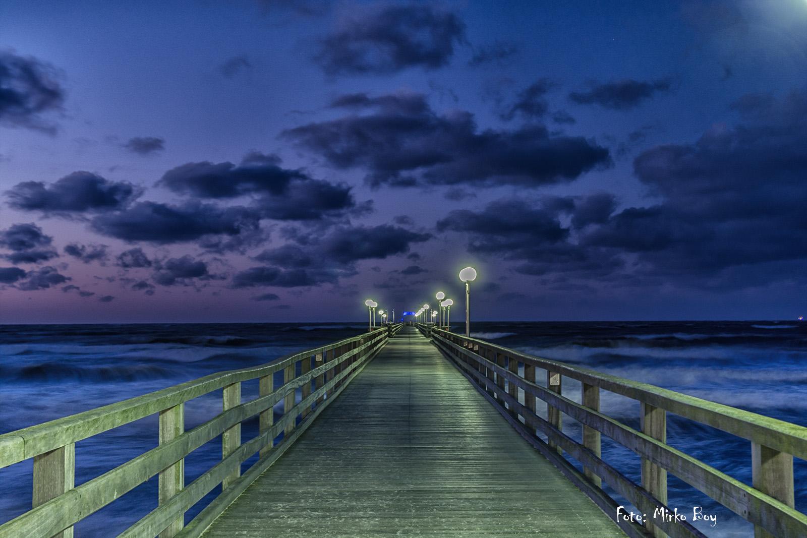 Blaue Stunde auf der Seebrücke - Fototouren