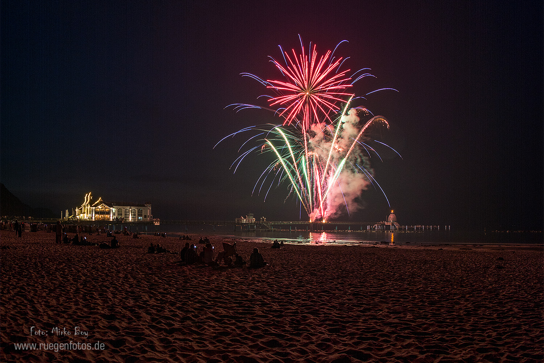 Feuerwerk Seebrücke Sellin - Fototouren